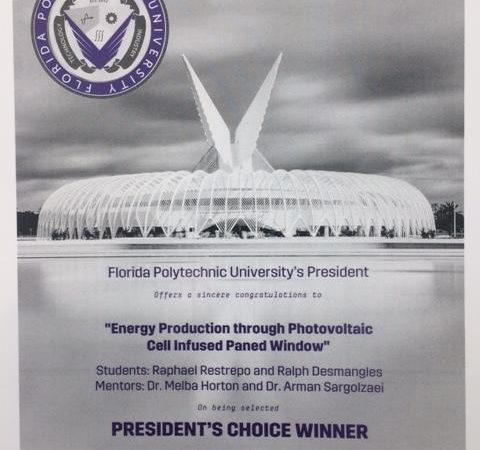 """President's Choice Winner"""" during poster competition"""
